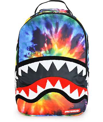 Sprayground Tie Dye Chenille Shark Backpack