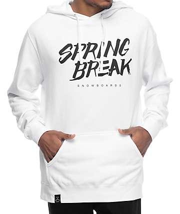 Spring Break Slasher sudadera blanca con capucha