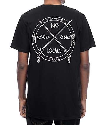 Spring Break Surf Club Black T-Shirt