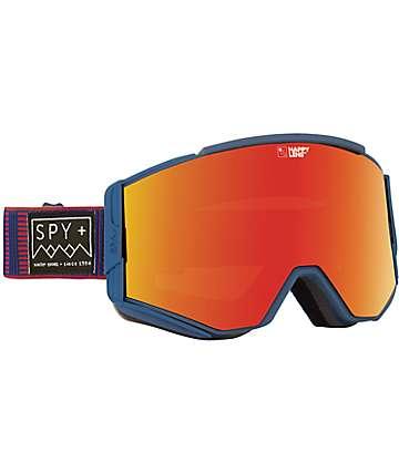 Spy Ace Stitched máscara de snowboard azul