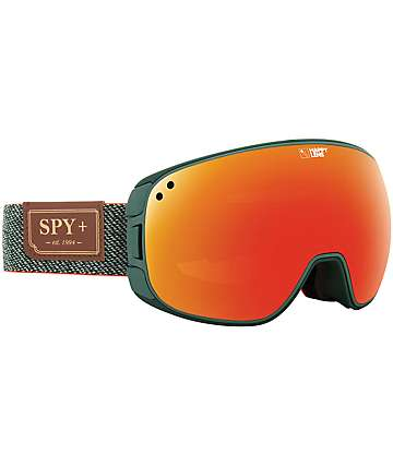 Spy Bravo Hunter Green Snowboard Goggles