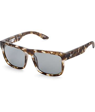 Spy Discord Soft Matte Smoke Tortoise Happy Lens Sunglasses