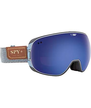 Spy Doom Happy Lens Hunter Grey & Blue Spectra Snowboard Goggles