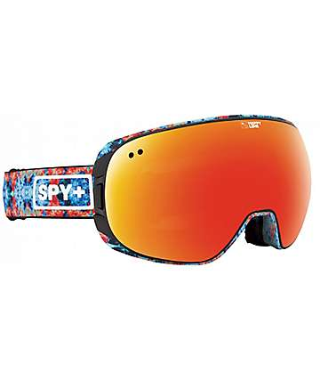 Spy Doom Wiley Miller Happy Lens máscara de snowboard en espectro rojo