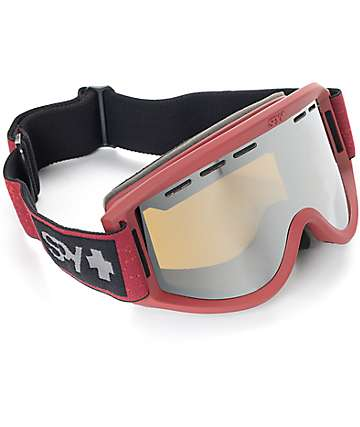Spy Getaway Burgundy Heather Snowboard Goggles