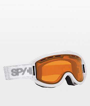 Spy Getaway Matte White Bronze Snowboard Goggles
