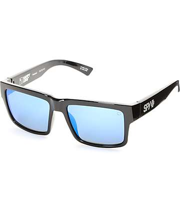 Spy Montana Polarized Shinny Black & Blue Sunglasses