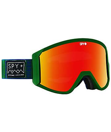Spy Raider Stitched Green & Red Spectra Snowboard Goggles