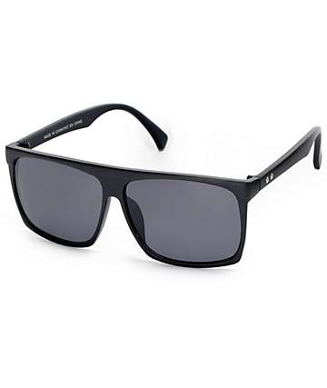 Squared Off Matte Black Flat Top Sunglasses