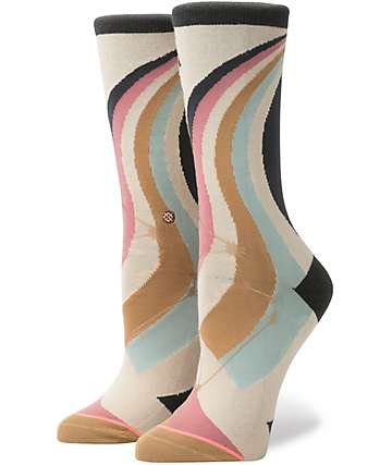 Stance Aquarius Cream Crew Socks
