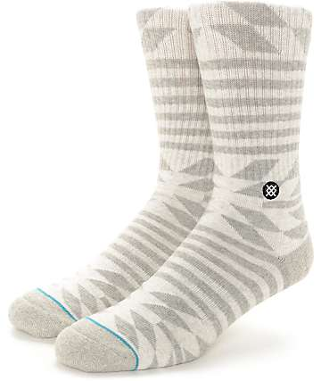 Stance Banning White & Grey Crew Socks