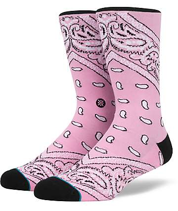 Stance Barrios Pink Crew Socks
