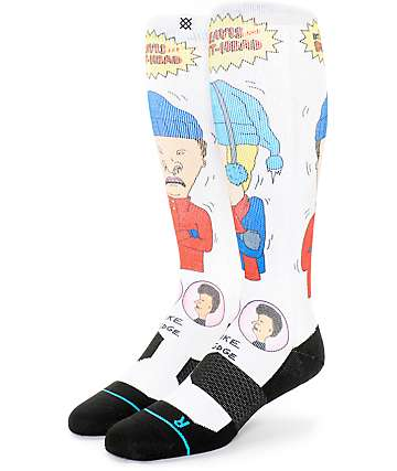Stance Beavis & Butthead Yellow Snow Snowboard Socks