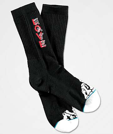 Stance Between Lines Black Classic Crew Socks