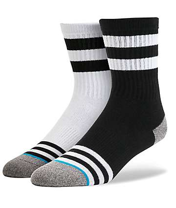 Stance Boys Scooter Black & White Crew Socks
