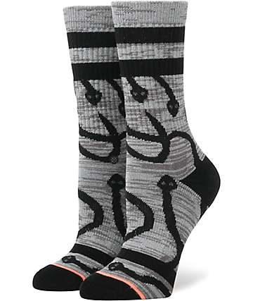 Stance Cleo Grey Crew Socks