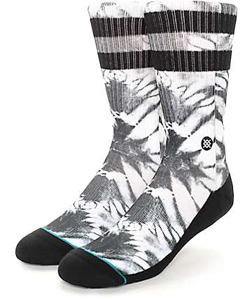 Stance Cyclone Black & White Tie Dye Crew Socks