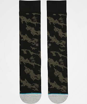 Stance Deep Sea Olive & Black Crew Socks