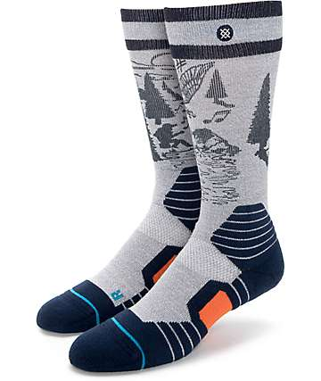 Stance Eagle Charmer Grey, Navy, & Orange Snow Socks