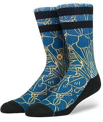 Stance Ferny Blue & Goldenrod Crew Socks