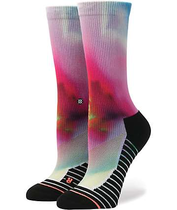 Stance Flortex Fusion Tie Dye Athletic Crew Socks
