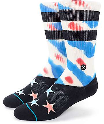 Stance Formation Red, White & Blue Crew Socks