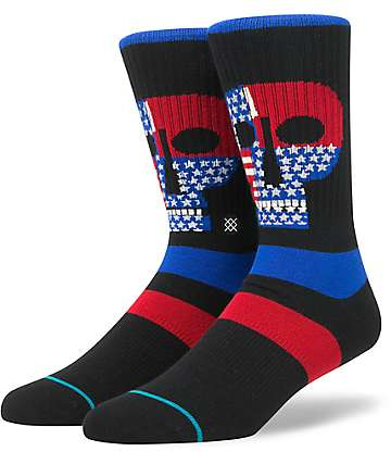 Stance Freedom Heads Black Crew Socks