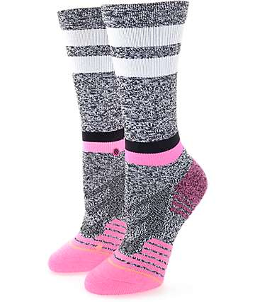 Stance Fusion Burn Black, White & Pink Athletic Crew Socks