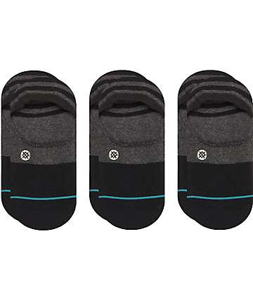 Stance Gamut 3 Pack No Show Black Socks