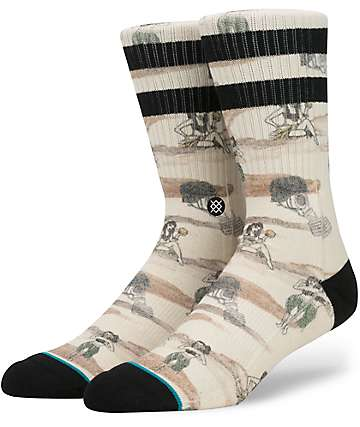 Stance Hickman Cream Camo Crew Socks