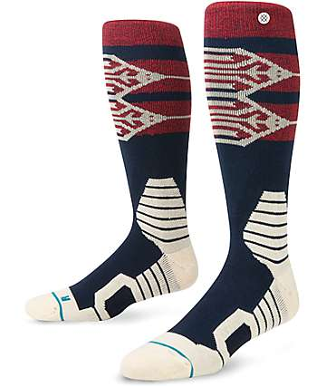 Stance Hive Cream, Red, & Navy Snow Socks