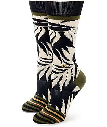 Stance Isla Black & Cream Crew Socks