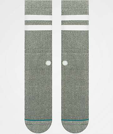 Stance Joven Grey & White Crew Socks