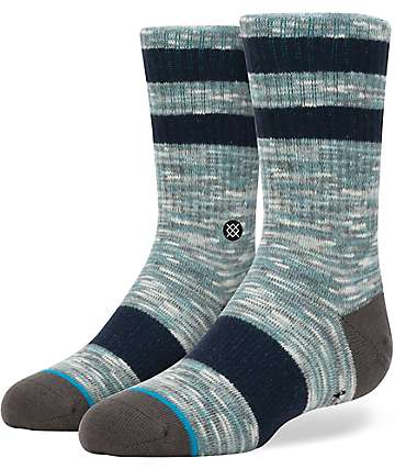 Stance Mission Boys Aqua Crew Socks