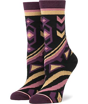 Stance Nefertiti Black Crew Socks