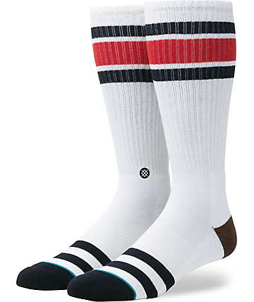 Stance Oxnard White Tall Crew Socks