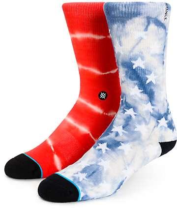 Stance Patriot Americana Tie Dye Crew Socks