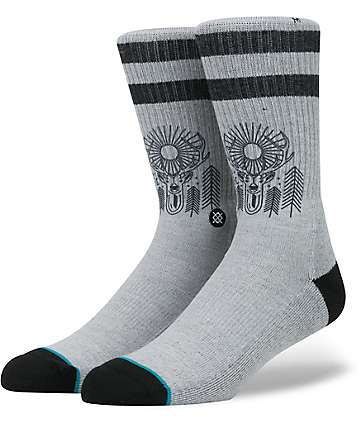 Stance Peaceful Grey Crew Socks
