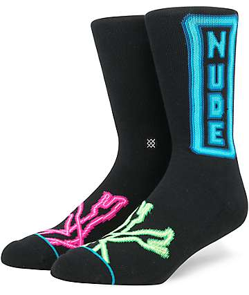 Stance Peep Show Black Crew Socks