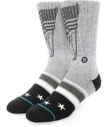 Stance Podium Grey Flag Crew Socks