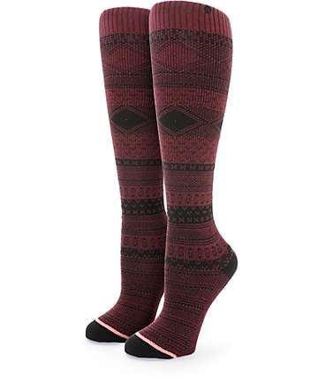 Stance Renegade Burgundy Tall Boot Socks