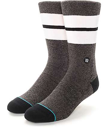 Stance Sequoia Heather Black Crew Socks