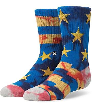 Stance Sidereal Boys Blue Crew Socks