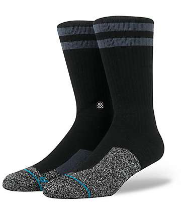 Stance Skate Fusion FTR Black & Heather Black Crew Socks