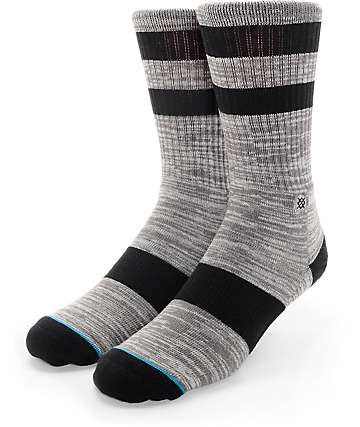 Stance Smudge Grey Crew Socks