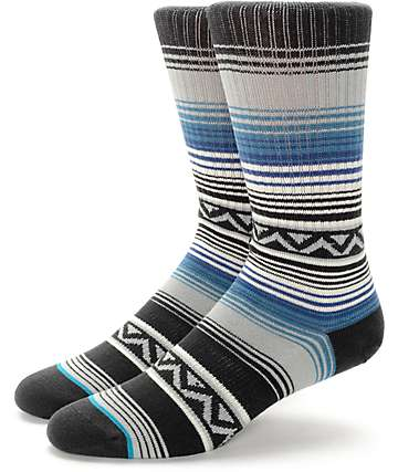 Stance Sun Burst Blue & Black Crew Socks