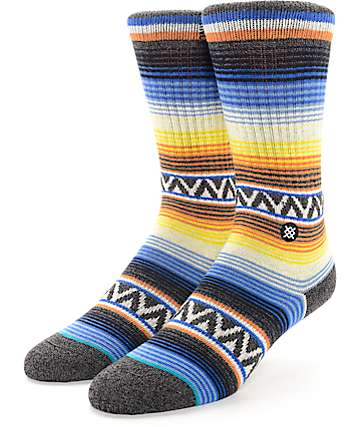 Stance Sun Burst Orange Crew Socks