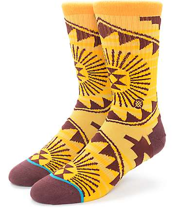 Stance Sundrop 2 Orange Sand Crew Socks