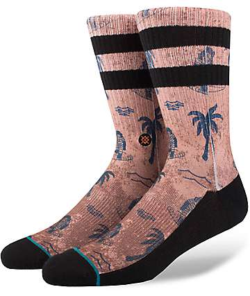 Stance Surfin Monkey Rust Crew Socks