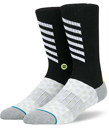 Stance Transparent Black Crew Socks